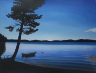 painting sweden lake