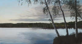 lake in Sweden (large version), painting